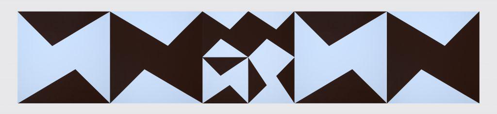 Akryl på lærred, 5 stk. 100x100cm